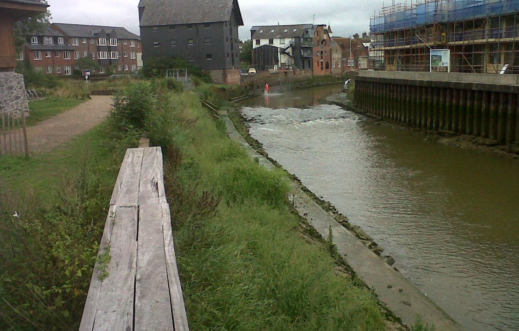 Lewes in Aug 2015 with banks greening up