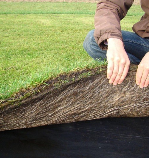 Salix have the facilities to contract grow turf using the VMax3 range of  Turf Reinforcement Mats
