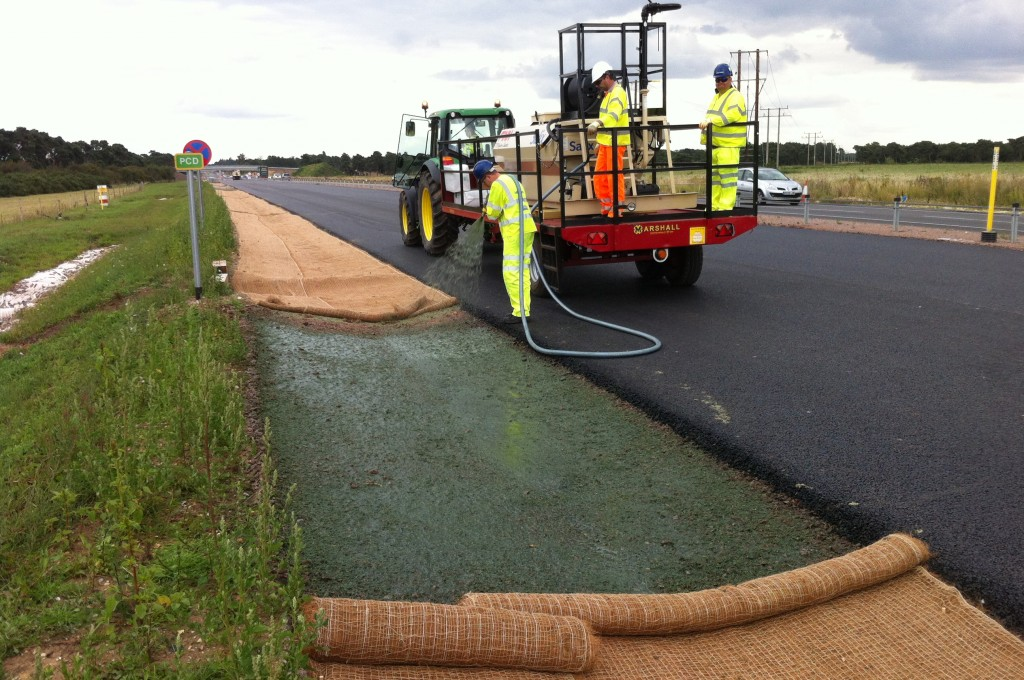 HydraCX sprayed directly onto Type 1 drainage channel