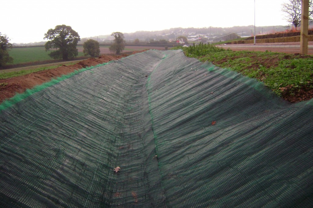 VMax P550 installed in high energy drainage swale