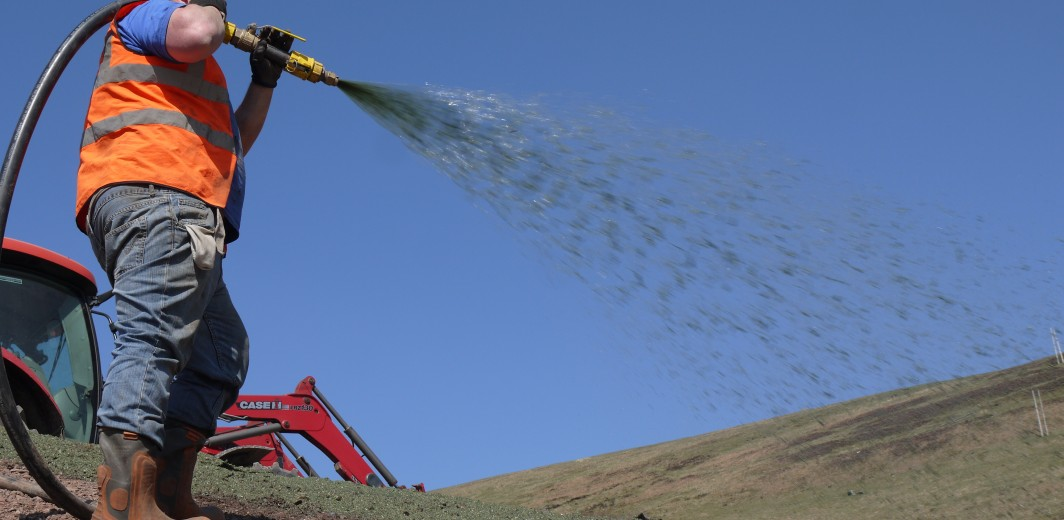 Spraying HydraCX at Silent Valley