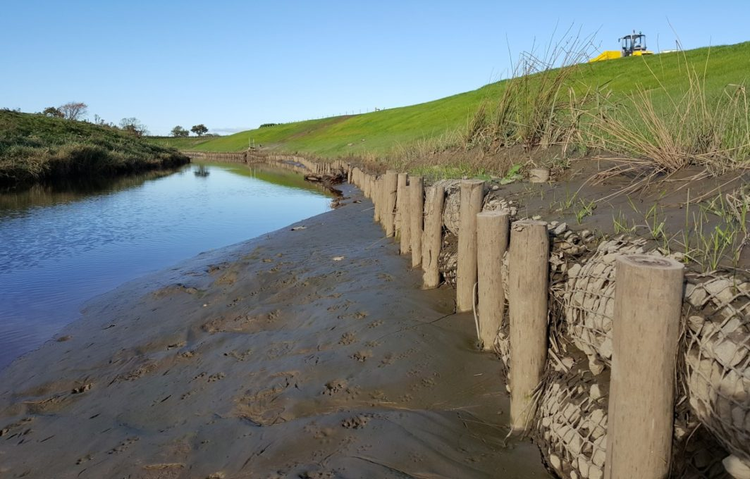 River Bank Repair : Salix erosion products used in flood protection repair