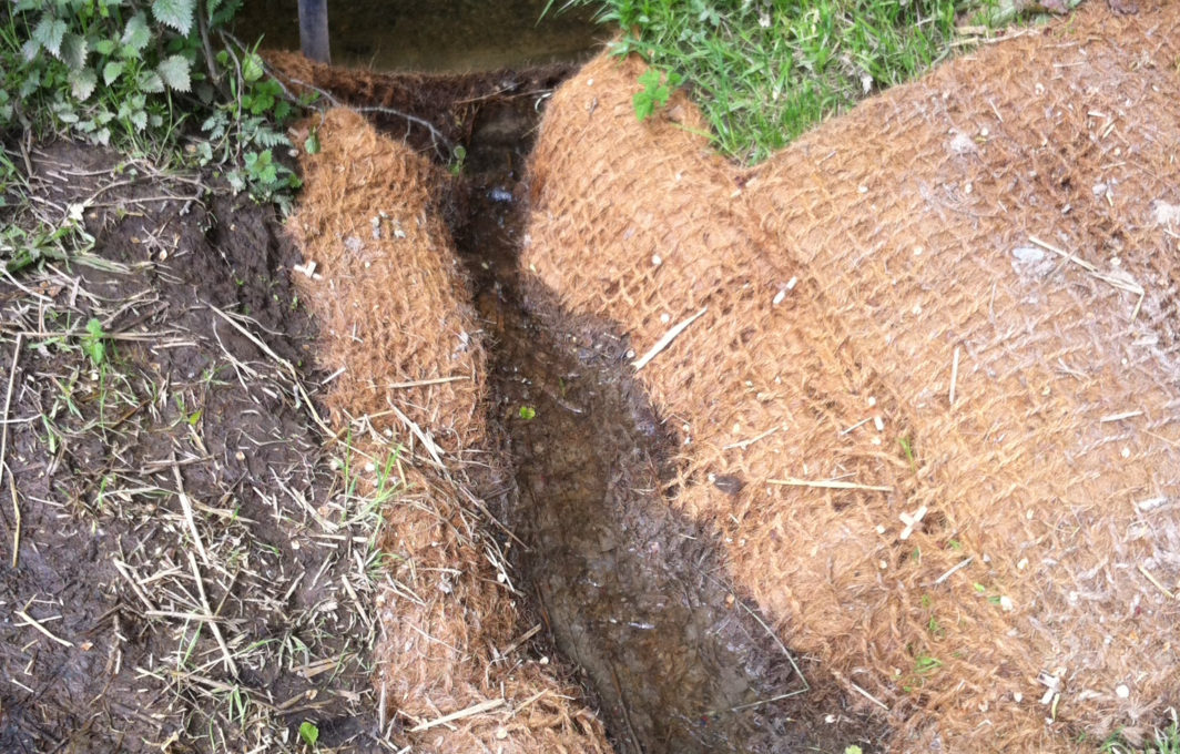 Floc Mat outflow from Excavation