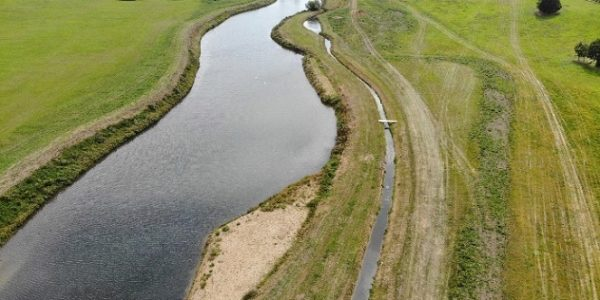 River diversion on the River Beane